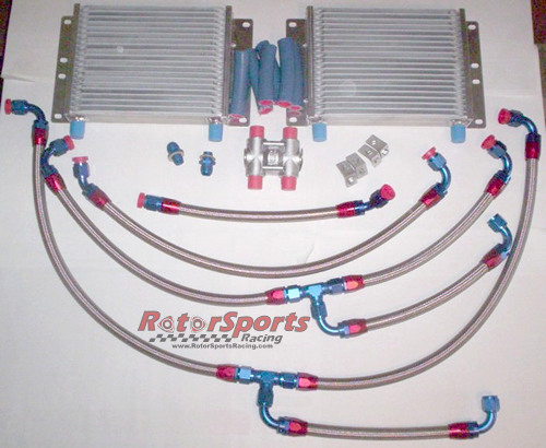 RotorSports Racing FD3S dual oil cooler kit